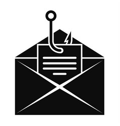 phishing personal mail icon simple style vector image
