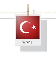Photo of turkey flag vector
