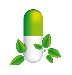 Pill medical in capsule shape with decorative vector