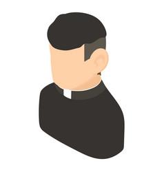 priest icon isometric 3d style vector image
