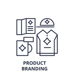 product branding line icon concept product vector image