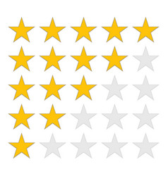 Product rating icons or customer reviews vector