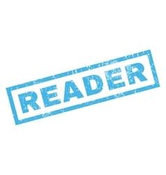 Reader Rubber Stamp vector