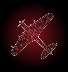 retro airplane vector image