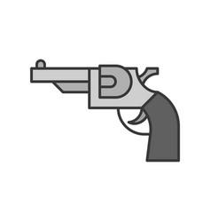 revolver handgun police related icon editable vector image
