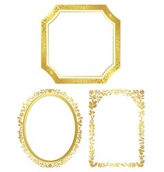 Set of various golden frames vector
