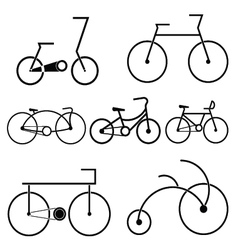 silhouette of bicycle symbol vector image