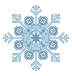 Single Snowflake vector image