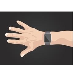 smart watch on hand vector image