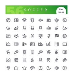 Soccer Line Icons Set vector image