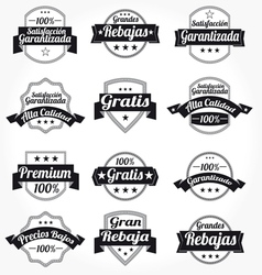 Spanish retro sales free labels vector
