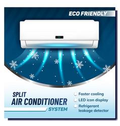 Split air conditioner system promo banner vector