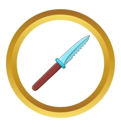 Steel knife icon vector