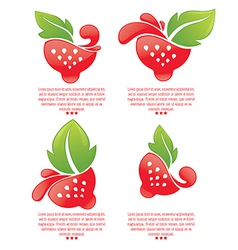 Strawberry stickers vector