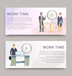 Time to work business corporate process workplace vector