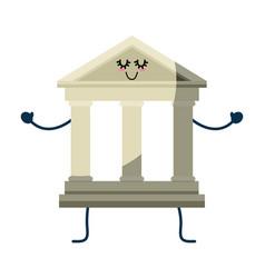University building cartoon vector