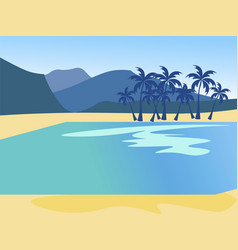 vacation background island nature beach in vector image