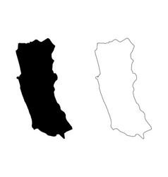 Western province sri lanka map vector