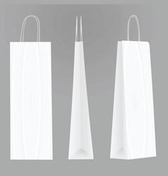 White bottle paper bag template vector