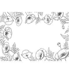 wreath poppies vector image