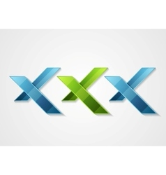 XXX corporate geometric logo design vector image