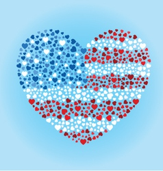 American Flag Heart vector image vector image