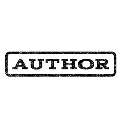 author watermark stamp vector image vector image