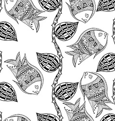 background with fish vector image