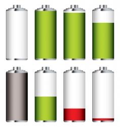 battery levels set vector image