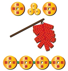 chinese firecrackers vector image vector image