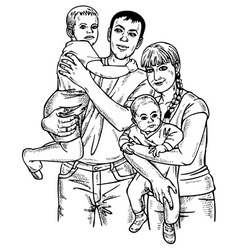 family four vector image