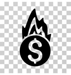 Fire Damage Icon vector image vector image