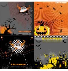 Halloween backgrounds set vector image vector image