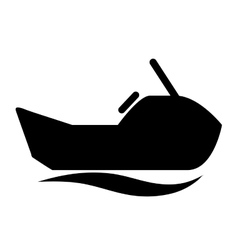 jet ski isolated icon design vector image