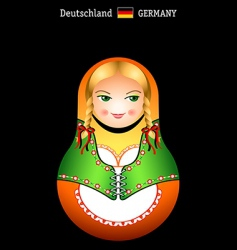 matryoshka German girl vector image vector image