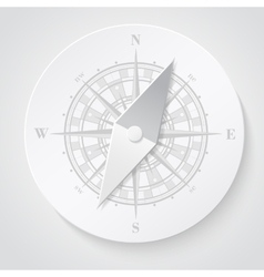 Paper compass vector image vector image