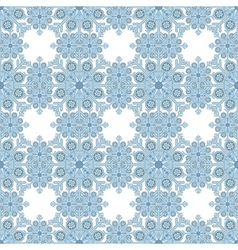 Seamless Background Snowflake vector image vector image