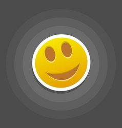 smile emotion vector image vector image