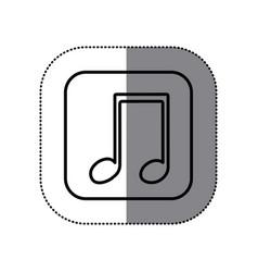 symbol play music icon vector image