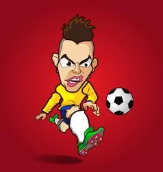 The hardcore shooting football cartoon vector image
