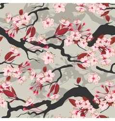 Blooming cherry seamless vector image