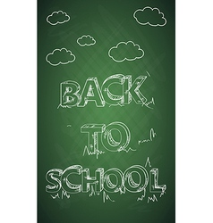 Education back to school text green chalkboard vector image vector image