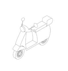 Isometric motorbike icon vector image