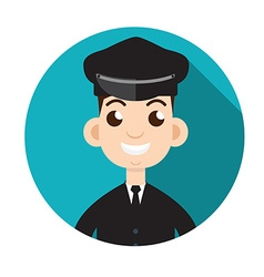 Limo driver Limousine driver icon Flat style vector image