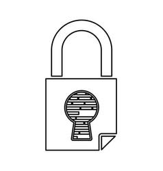 padlock security digital vector image vector image