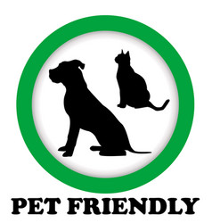pet friendly sign vector image vector image