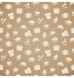 Seamless restaurant menu pattern background vector image vector image
