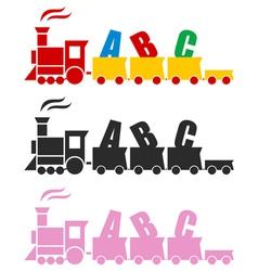 Beautiful toy train vector