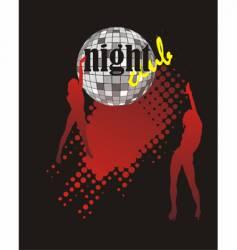 nightclub poster vector image vector image