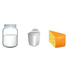 three milk products vector image